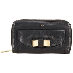 Chloe Black Leather Lily Wallet