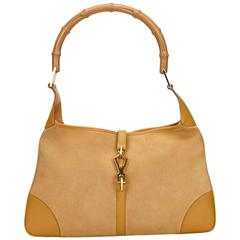 Gucci Brown Suede Bamboo New Jackie