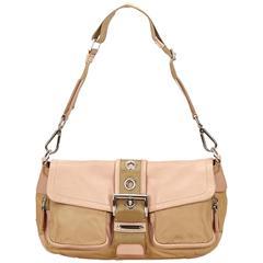 rada Brown Nylon Shoulder Bag
