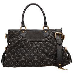 Louis Vuitton Black Mini Lin Neo Cabby MM