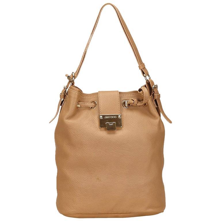 Jimmy Choo Brown Leather Shoulder Bag For Sale