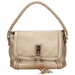 Gucci Gold Calf Leather Shoulder Bag