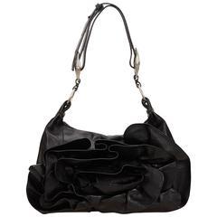 YSL black Leather Nadja Rose