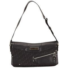 Dior Black Jacquard Diorissimo Shoulder Bag