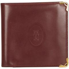 Cartier Red Leather Must De Cartier Wallet