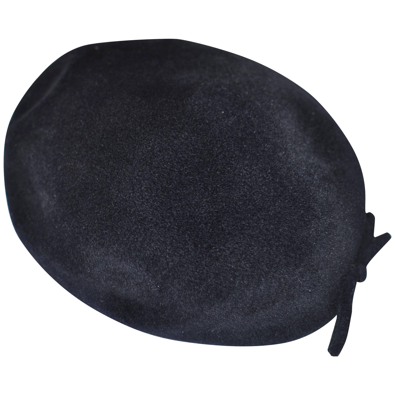 1950s Black Velour Hat