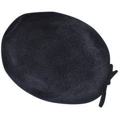 1950s Black Velour Hat