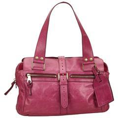 Mulberry Pink Leather Shoulder Bag