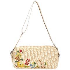 Dior White PVC Diorissimo Shoulder Bag