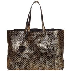 Bottega Veneta Black Intrecciomirage Tote Bag