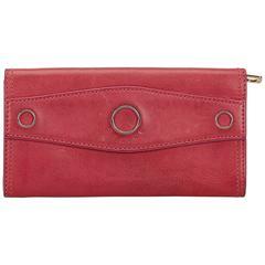 Celine Red Leather long Wallet