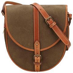 Mulberry Brown Pebbled PVC Shoulder Bag
