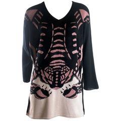 Krizia Maglia Silk, Cotton and Viscose Tiger Sweater