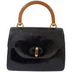 Gucci black Leather Baguelite Bag