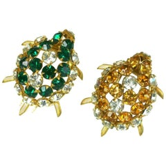 Roger Jean Pierre Couture Turtle Clip Brooches