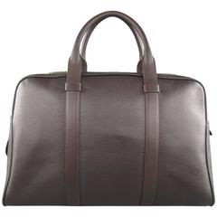 TOM FORD Brown Buckley Leather Flat Trapeze Briefcase