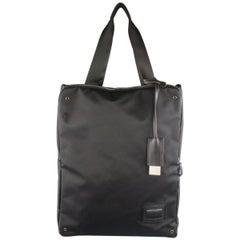 Y's by YOHJI YAMAMOTO MANDARINA Black Nylon Crossbody Tote Bag