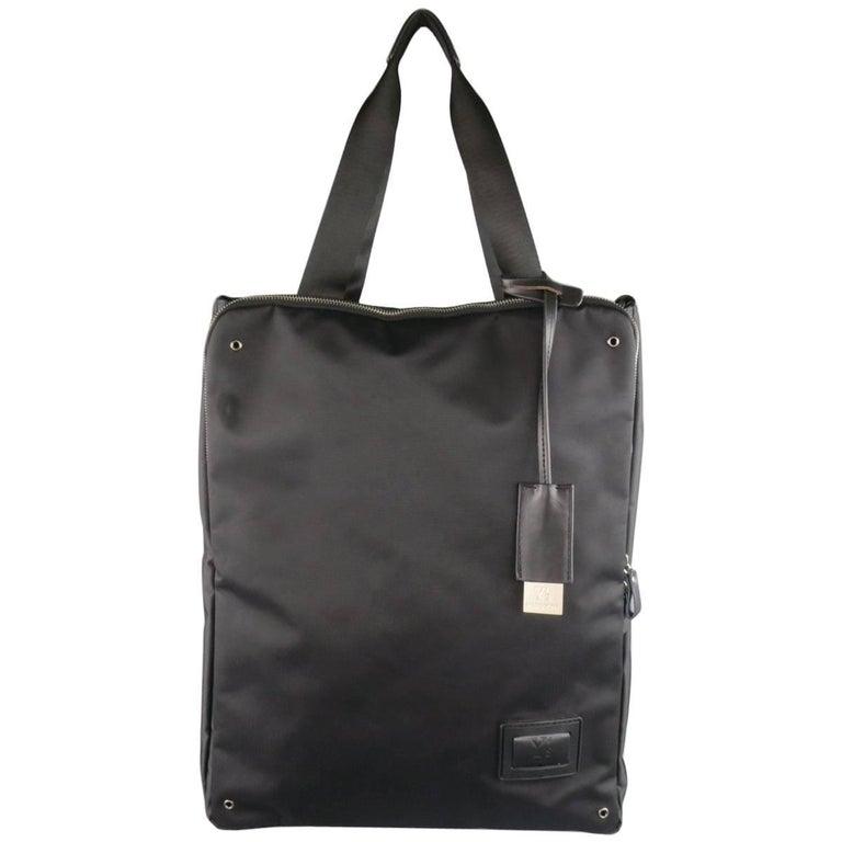 9736844c1a91 Y s by YOHJI YAMAMOTO MANDARINA Black Nylon Crossbody Tote Bag For Sale