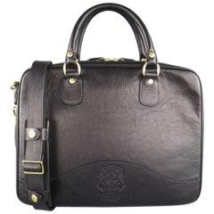 GHURKA Black Leather Tech Case No. 262 Laptop Briefcase