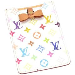 Louis Vuitton White Multicolor Monogram Leather Compact Mirror - 2003 Limited