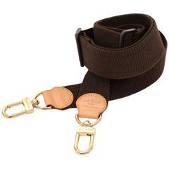 Louis Vuitton Adjustable Brown Cotton Shoulder Strap