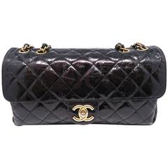 Chanel Black Quilted Calfskin Leather Gold Metal Chain Shoulder Bag