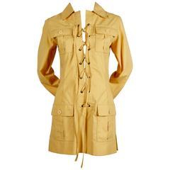 very rare 1968 YVES SAINT LAURENT safari tunic