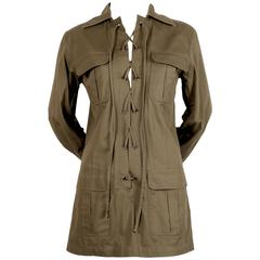 "Iconic YVES SAINT LAURENT ""Saharienne"" khaki tunic safari tunic"