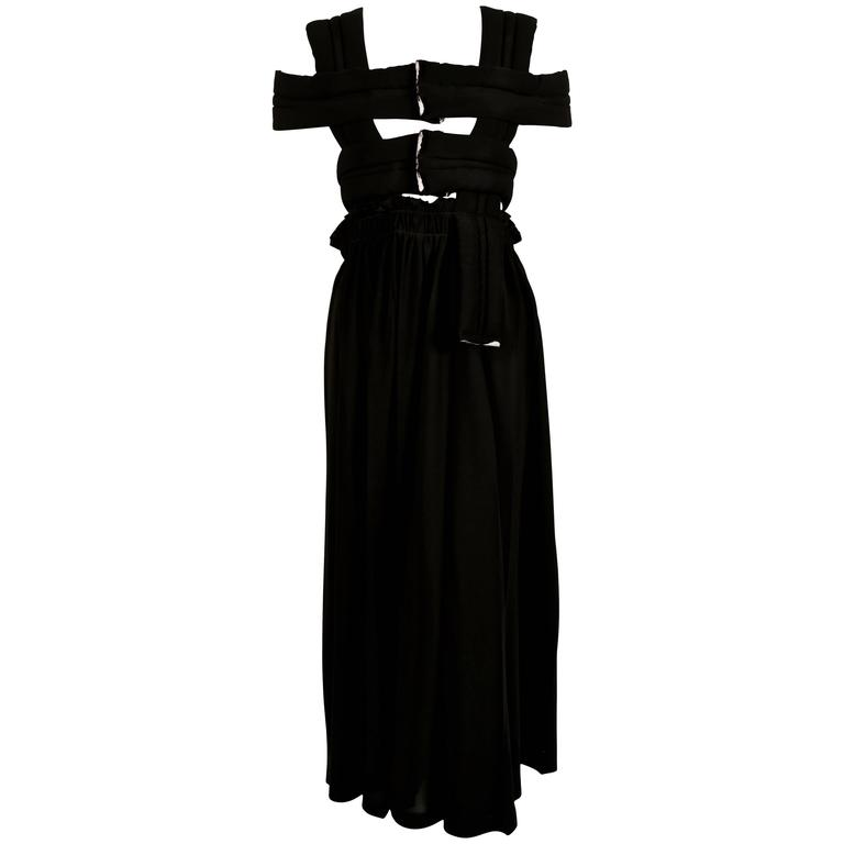 Comme Des Garcons Black Dress With Padded Cage Bodice