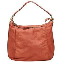 Gucci Orange Calf Leather Shoulder Bag