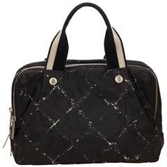 Chanel Black Old Travel Line Nylon Handbag