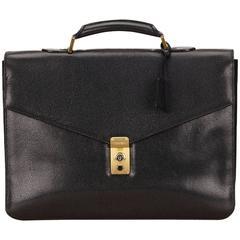 Chanel Black Caviar Leather Briefcase