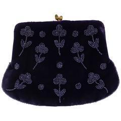 Gucci purple velvet vintage bag