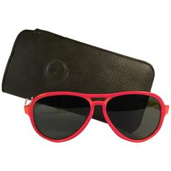 New Vintage Ray Ban B&L Vagabond Orange & Yellow G15 Grey Lenses Sunglasses USA