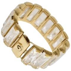 "Goossens Paris Yellow Gold and Rock Crystal ""Windsor"" Bracelet"