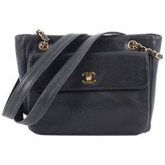 Chanel Vintage Front Pocket Camera Bag Caviar Large
