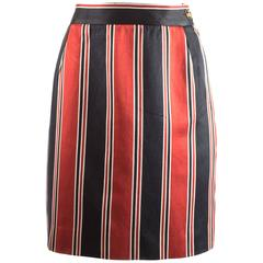 Vivienne Westwood Spring-Summer 1996 striped satin pencil skirt