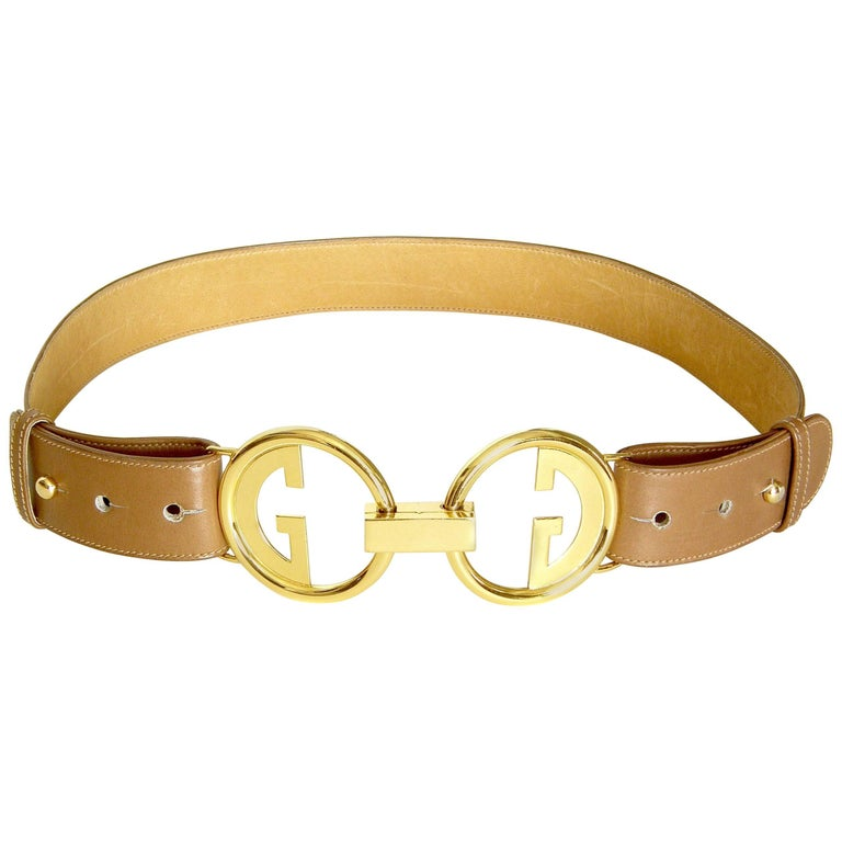 Gucci Leather Belt with Double G Buckle 1