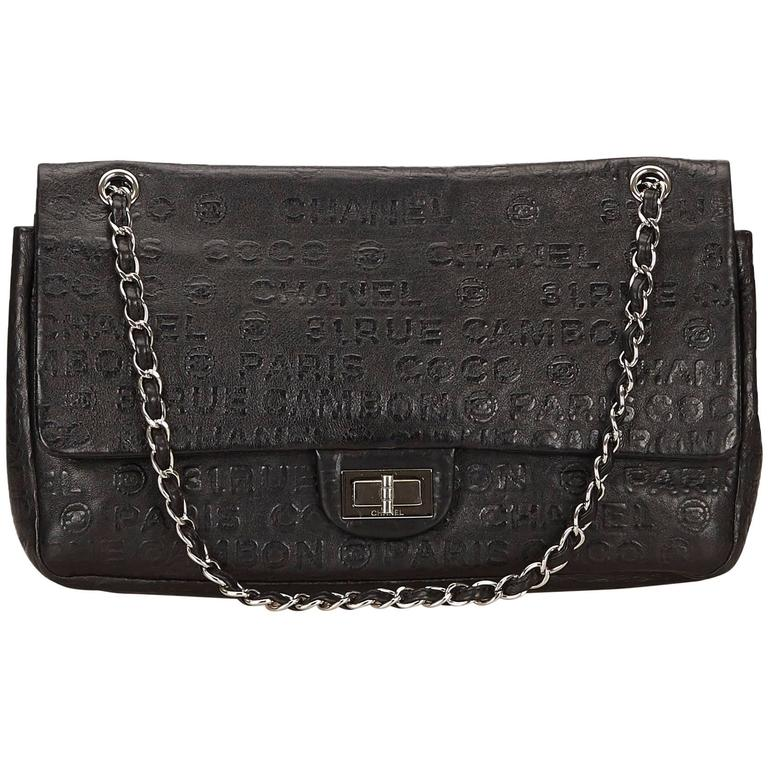 Chanel Black Calf Leather Jumbo Unlimited Flap Bag For