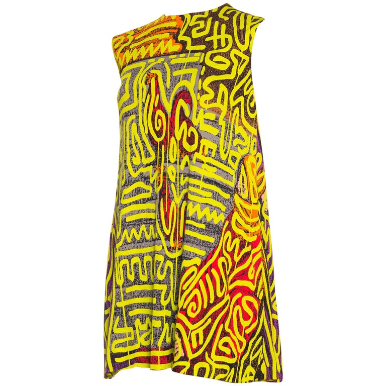 Stephen Sprouse Haring Cock Dress