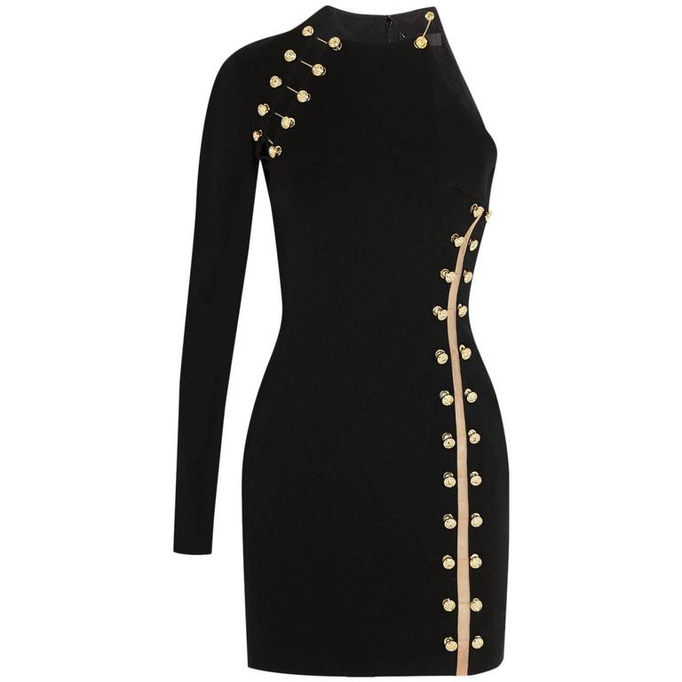 83aad1cdee2 VERSUS VERSACE + Anthony Vaccarello embellished stretch mini dress For Sale