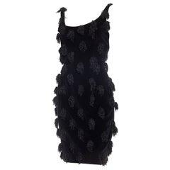 Stephen Sprouse Tasseled Velvet Dress