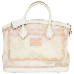 Louis Vuitton White Monogram Transparence Transparent Mesh Lockit Bag rt. $3,450