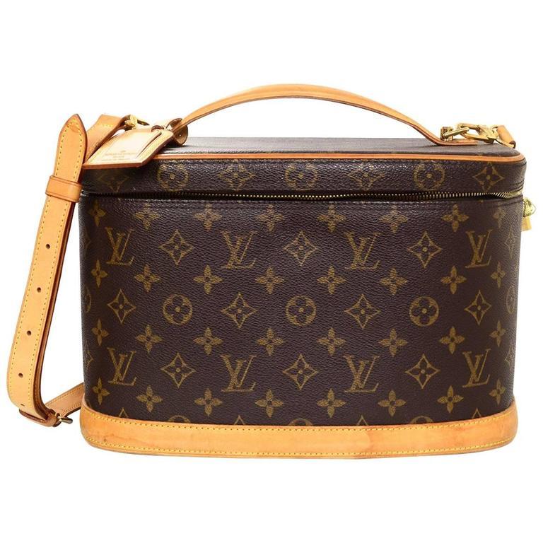 6ff9228a276c Louis Vuitton Monogram Nice Train Travel Case w  Strap at 1stdibs
