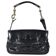 Black Valentino Leather Shoulder Bag