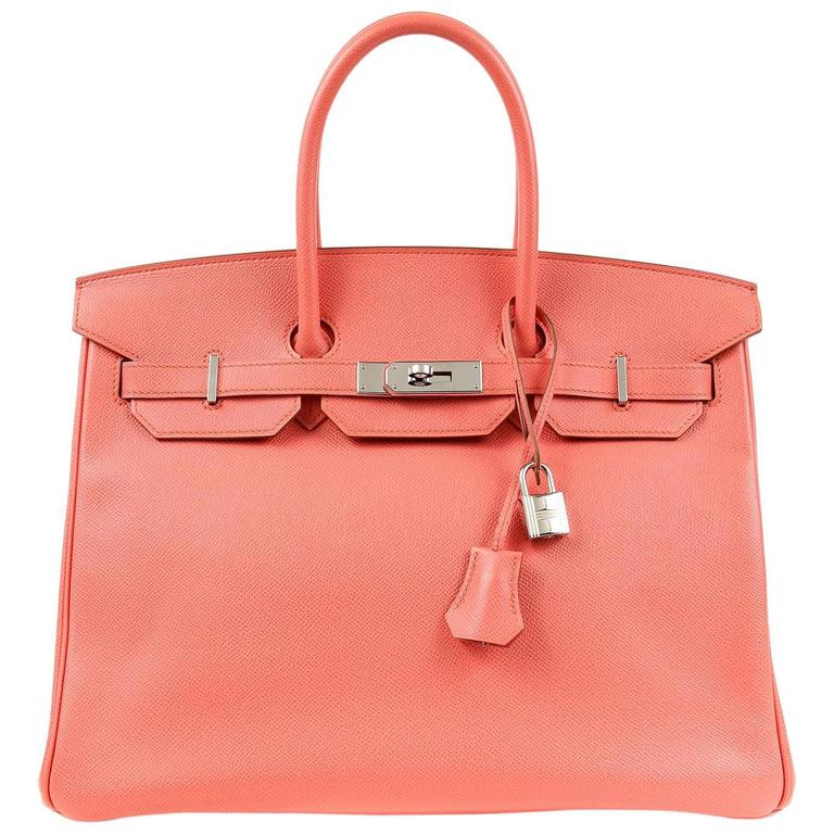 Hermès Pink Flamingo Epsom Birkin- 35 cm with  PHW For Sale
