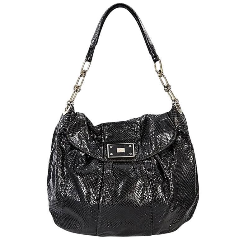 Brown Anya Hindmarch Python Vigo Shoulder Bag