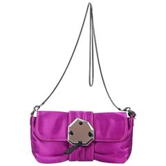 Magenta Lanvin Silk Shoulder Bag