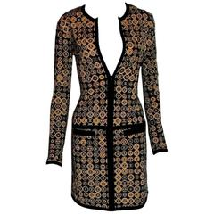 Stunning Chanel CC Logo Skirt Jacket Set Suit Ensemble