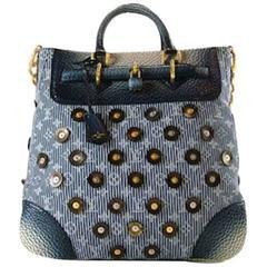 Louis Vuitton Limited Edition Blue Top Handle Satchel Tote Shoulder Bag in Box